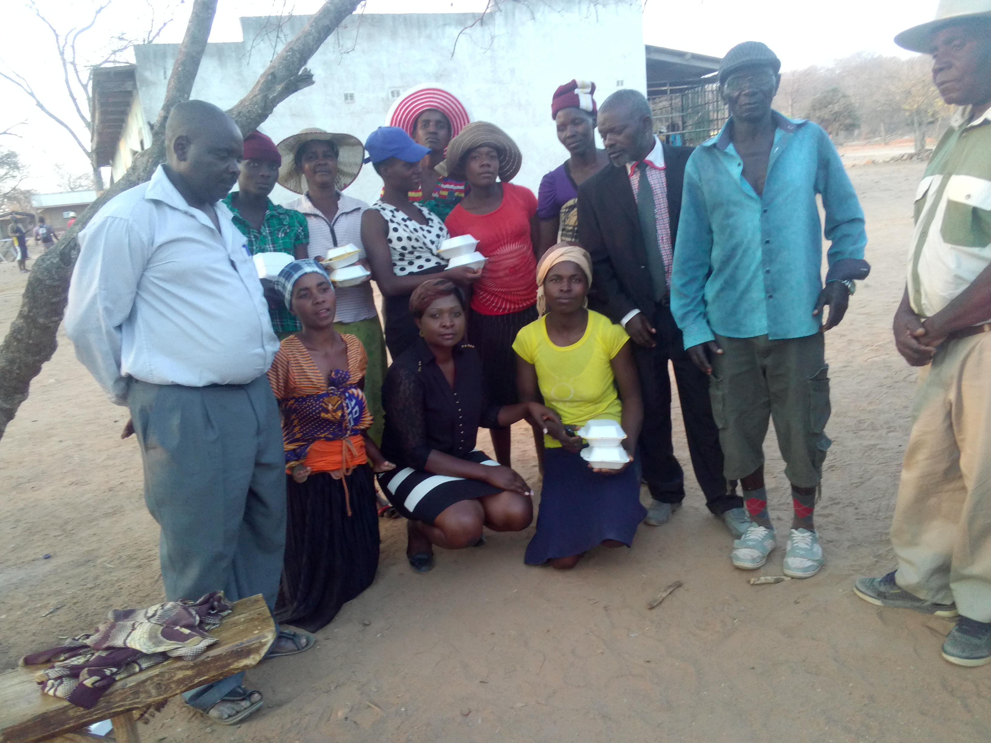 Malvern Mudiwa and members of Marange Development Trust